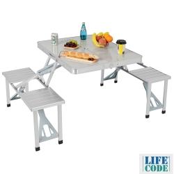 LIFECODE《行動派》鋁合金折疊桌椅