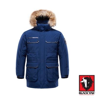 【韓國 BLACK YAK】Gore-Tex 防風防水軍裝帽可拆羽絨外套_深藍