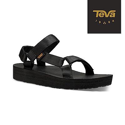 TEVA 美國 女 Original Midform 經典織帶中厚底涼鞋 黑