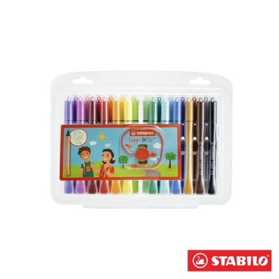 Stabilo 繪畫系 - Cappi 24色人體工學彩色筆