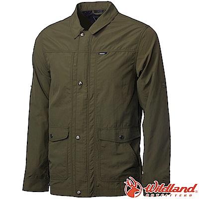 Wildland 荒野 0A61908-68橄藍綠 男Supplex帥氣外套