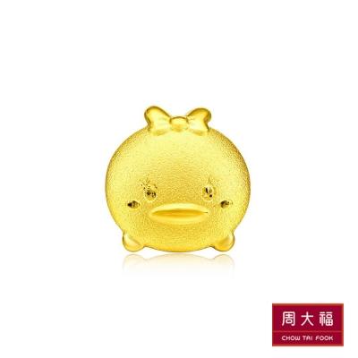 周大福 TSUM TSUM系列 黛西黃金耳環(單支)