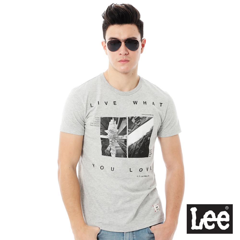 Lee  Regional圓領照片印刷短袖T恤-男款-灰色