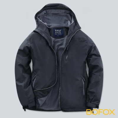 BOFOX WILDLIFE機能防風連帽外套-沉穩灰
