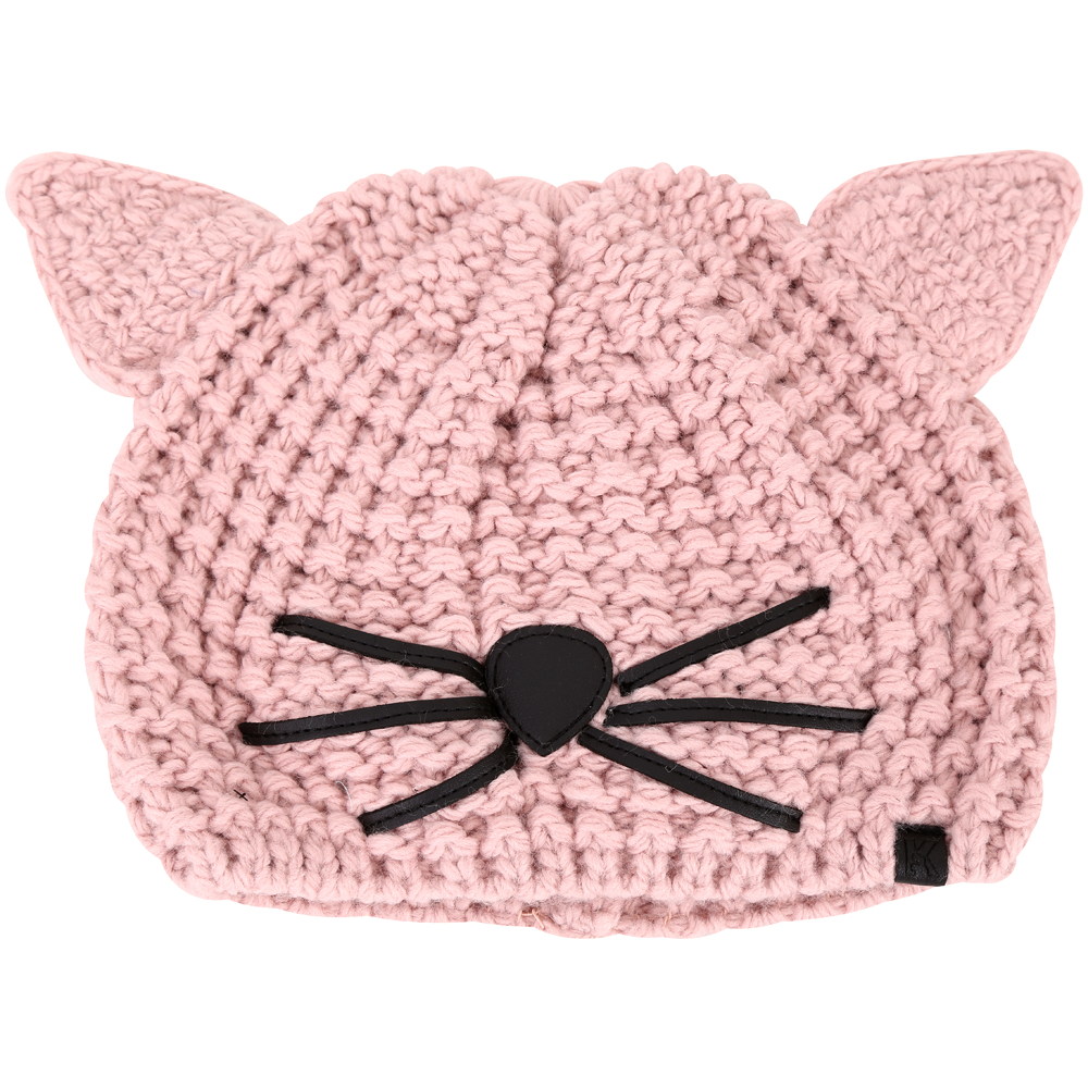 KARL LAGERFELD Choupette 貓咪造型粗針織毛帽(粉色)
