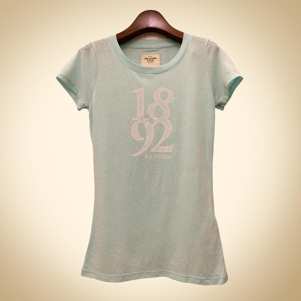 A&F 女裝 新款字母短T恤(水藍)
