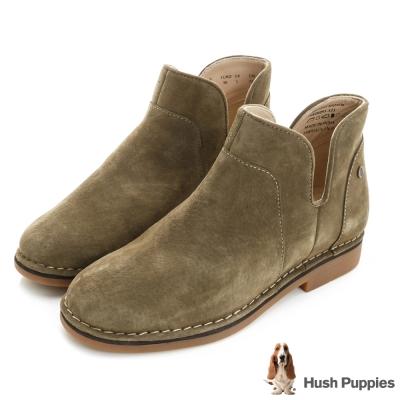 Hush Puppies ICON58防潑水沙漠靴-深綠麂皮