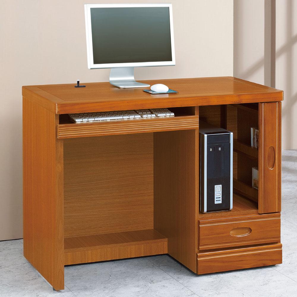 品家居 賈琳娜3.5.尺半實木電腦桌/書桌-105x59x82cm-免組