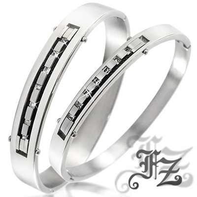 【FZ】銀河之戀白鋼手環對組