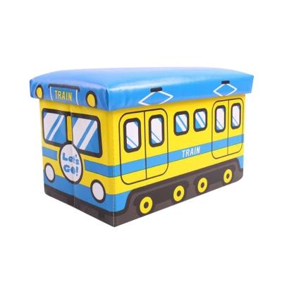 汽車造型收納椅(藍)