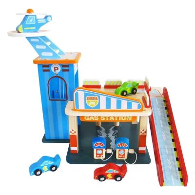 樂兒學嚴選 木製玩具複合式雙層停車場