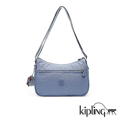 Kipling 斜背包 紫羅蘭灰素面-中