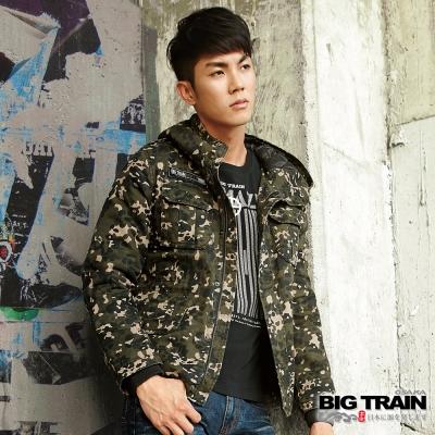 BIG TRAIN 迷彩全棉外套-男-軍綠