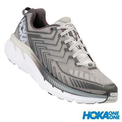 HOKA ONE ONE 跑鞋 Clifton 4 男 超緩震跑鞋 格里芬灰