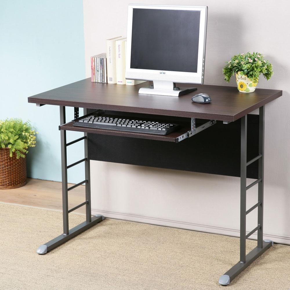 Homelike 馬克100x60辦公桌-加厚桌面(附鍵盤架)