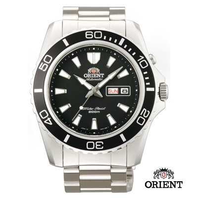 ORIENT 東方錶 WATER RESISTANT系列200m潛水錶-黑色/44.5mm