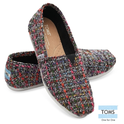 TOMS 經典毛呢懶人鞋-女款(黑)