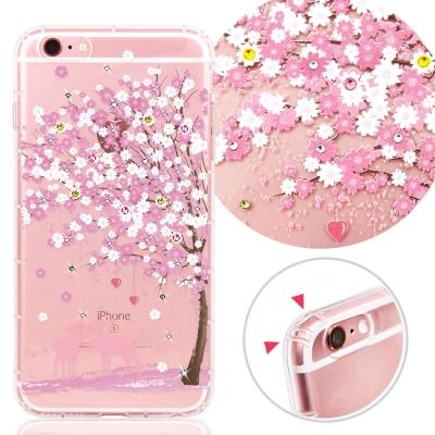 YOURS APPLE iPhone 6s Plus 奧地利彩鑽防摔手機殼-戀櫻