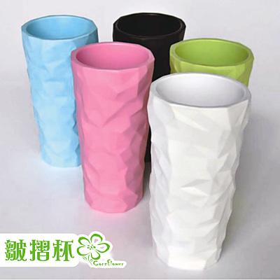【Cornflower玉米花】美學時尚玉米餐具-皺褶水杯+矽膠杯蓋6入