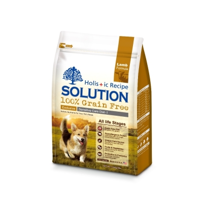 SOLUTION 耐吉斯 成幼犬無穀 澳洲羊肉 低敏柔膚配方 3磅 1.36kg X 1包