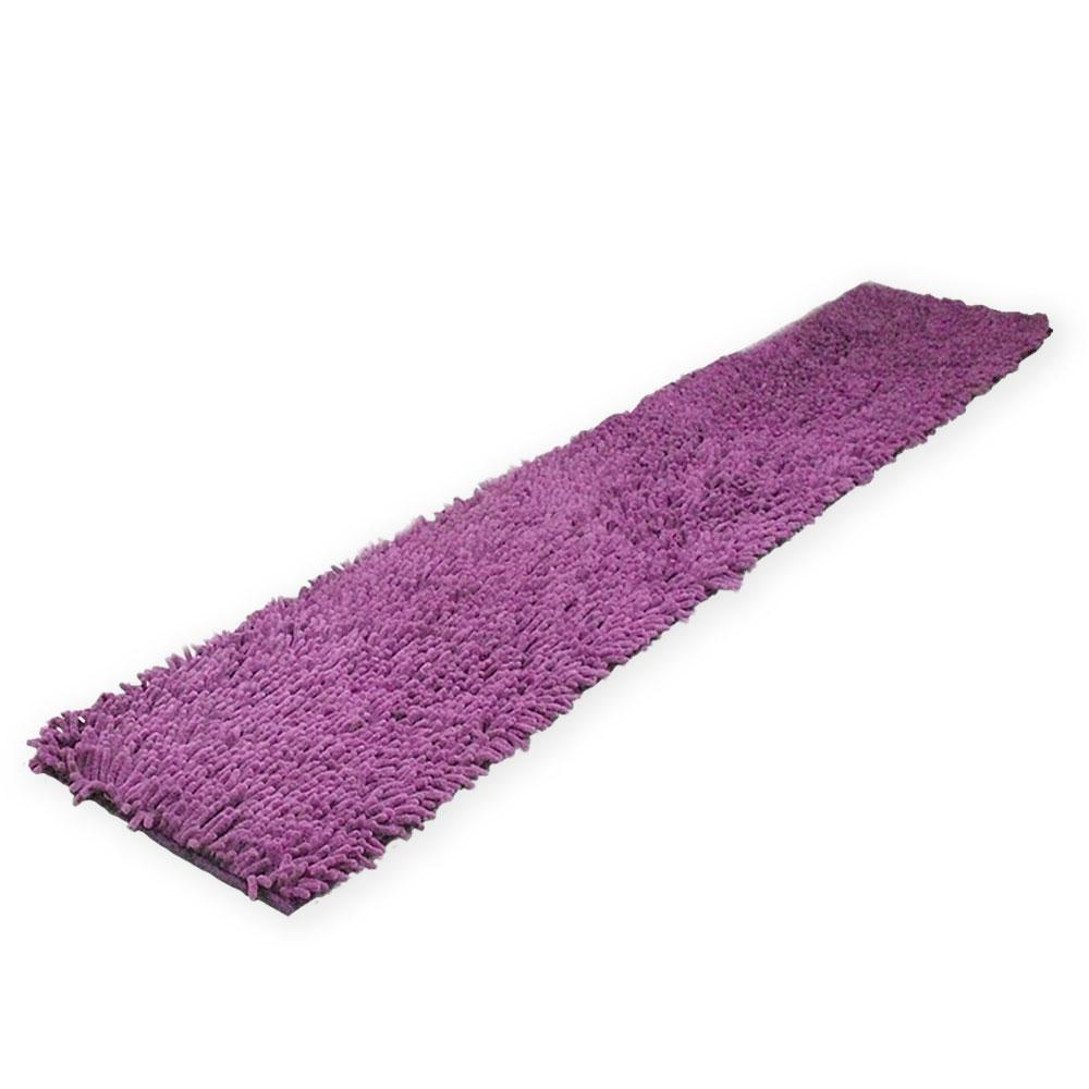 LISAN 長型極超細纖維舒柔腳踏墊 150x40 cm - 高貴紫色 1入