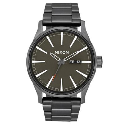NIXON The SENTRY SS 復刻潮流都會休閒腕錶-槍灰X黑