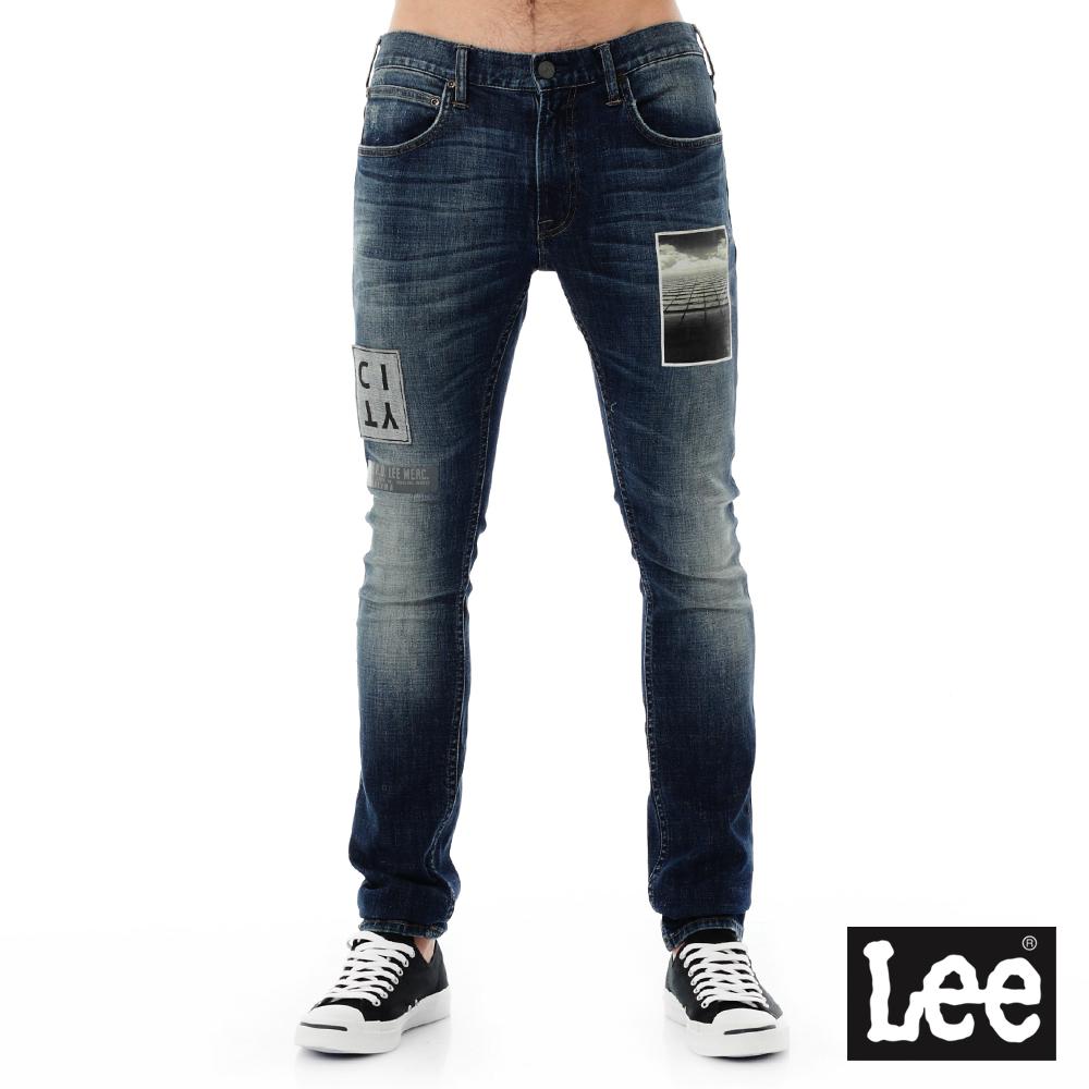 Lee 牛仔褲 709 低腰合身小直筒-男款-中藍
