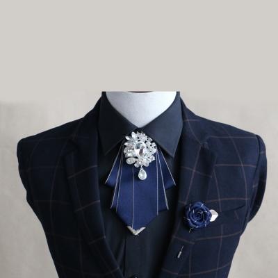 拉福 領花超大超亮鑽領花新郎領結