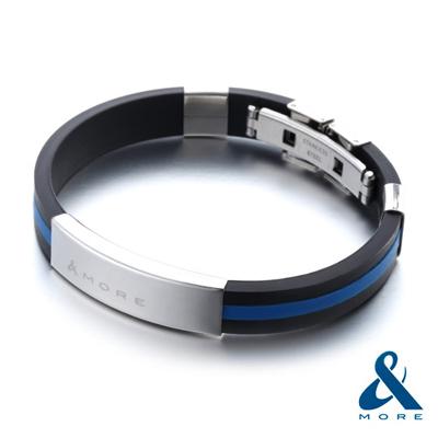 &MORE愛迪莫 放肆鈦鍺手環(藍)