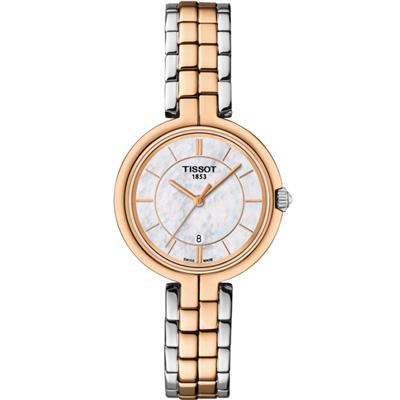 TISSOT 天梭FLAMINGO優雅女錶(T0942102211100)-雙色/26mm