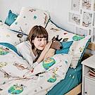 戀家小舖 / 雙人床包枕套組  迷路漂流日記  100%精梳棉  台灣製