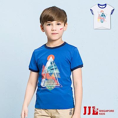 JJLKIDS 漫步巴黎圓領純棉短袖上衣T恤(2色)