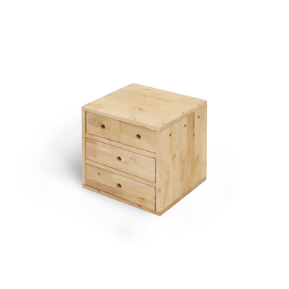 諾雅度-原生實木四抽桌上櫃/置物櫃-寬34深30高34cm