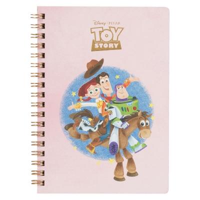 sun-star 皮克斯趣味童心系列精裝B 6 線圈筆記本(玩具總動員粉)