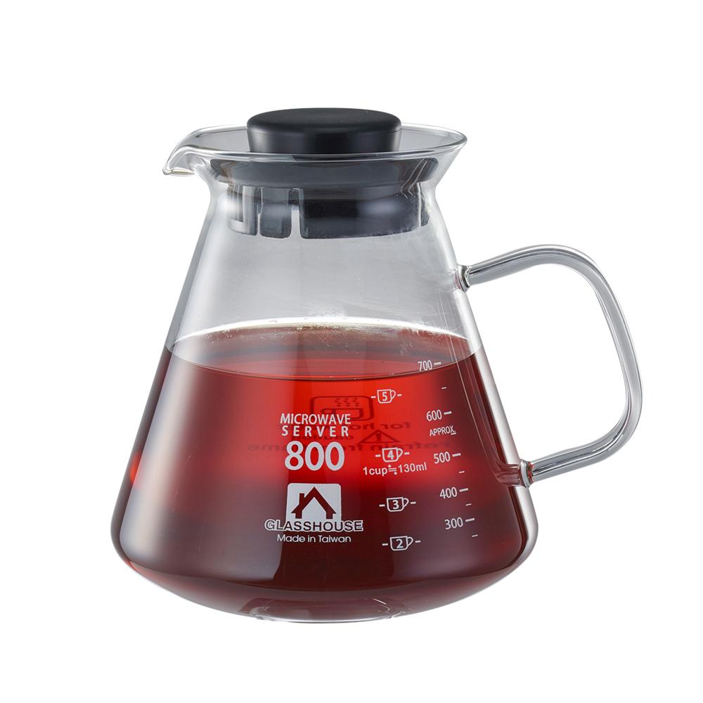 Glasshouse 台製耐熱玻璃壺/咖啡壺/花草茶壺800ML(B800)