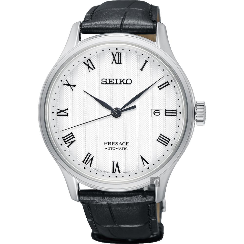 SEIKO精工 Presage 日式風格羅馬機械錶(SRPC83J1)