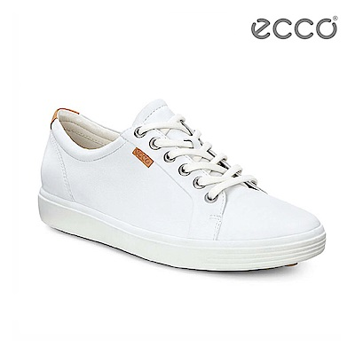 ECCO SOFT 7 LADIES 經典輕巧休閒鞋-白