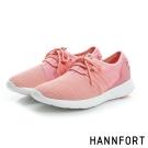 HANNFORT ICE網布拼接運動休閒鞋-女-嫩橘粉