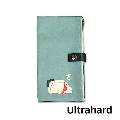 Ultrahard 日式納福雙拉鍊收納袋-相撲(水藍)
