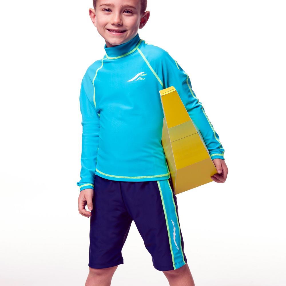 聖手牌 二截式長袖兒童水母衣