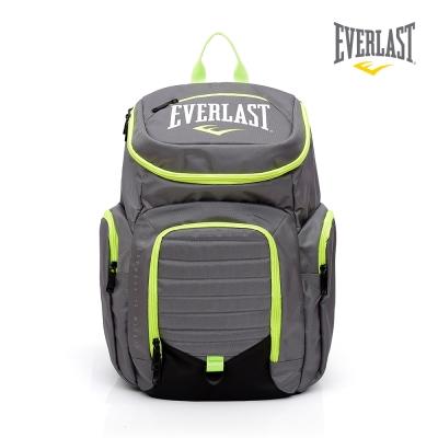 EVERLAST 拳擊運動品牌-雙肩圓頂後背包-灰/黃