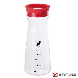 【ADERIA】日本進口貓咪耐熱玻璃冷水瓶900ml