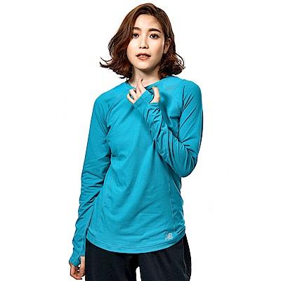 NB DRY彈性針織長袖上衣 WT73119PIS 女性 藍綠