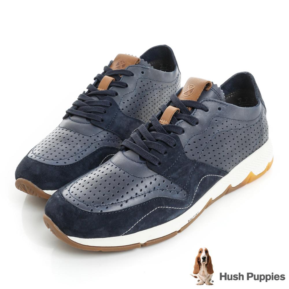 Hush Puppies FIELD 緩震運動休閒鞋-深藍
