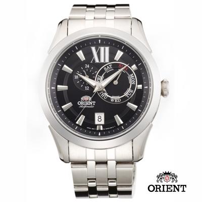 ORIENT 東方錶 DAY & DATE系列 日期星期機械錶-黑色/42mm