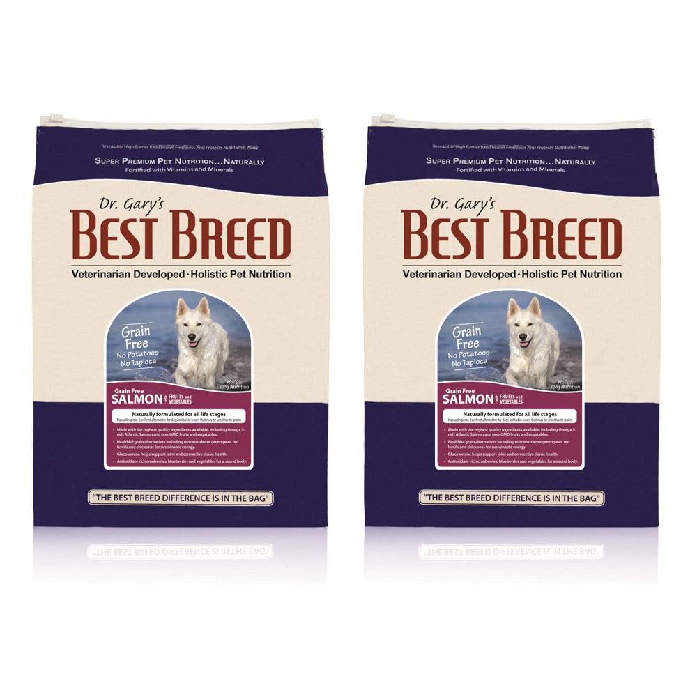 BEST BREED貝斯比 全齡犬無穀鮭魚+蔬果配方 犬飼料 6.8kg x 2包入