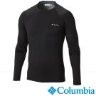 【Columbia哥倫比亞】男-保暖快排長袖上衣-黑色 UAM63230BK