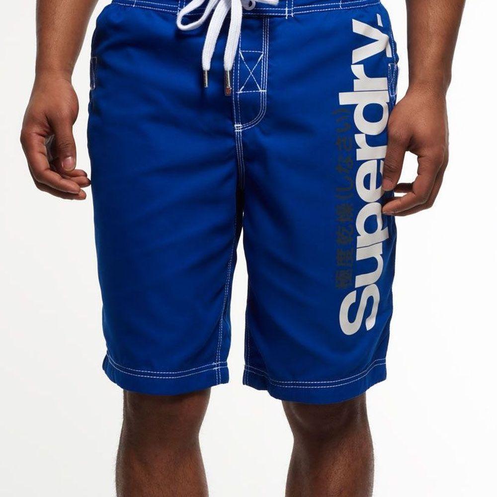 SUPERDRY 極度乾燥 男 短褲 藍色 0729