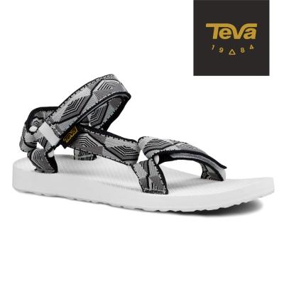 TEVA 美國-女 Original Universal 緹花織帶涼鞋 (黑灰)