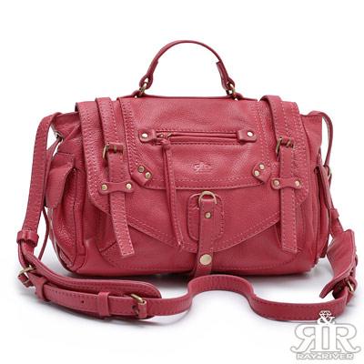 【2R】KMoss凱摩斯牛皮限量包-小版(甜莓紅)